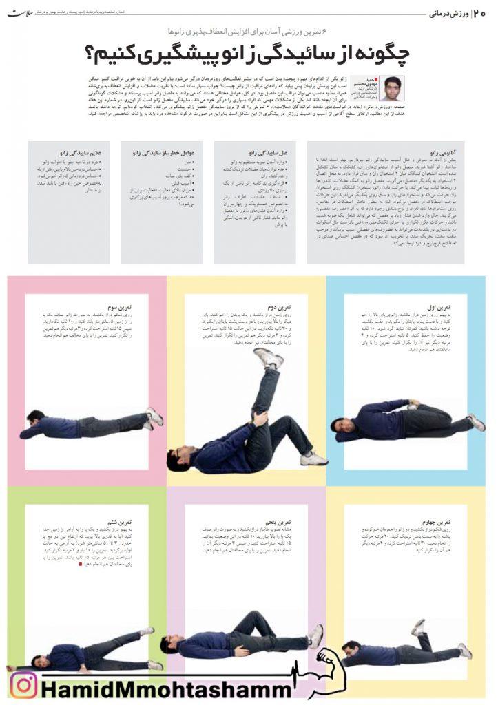 حمید محتشم - چگونه از ساییدگی زانو پیشگیری کنم؟   هفته نامه سلامت، شماره 657، 28 بهمن 97